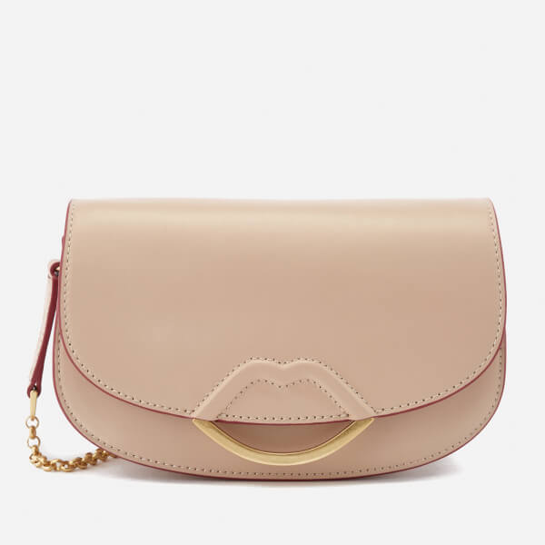 Lulu Guinness Women's Half Covered Lip Isabella Cross Body Bag - Latte