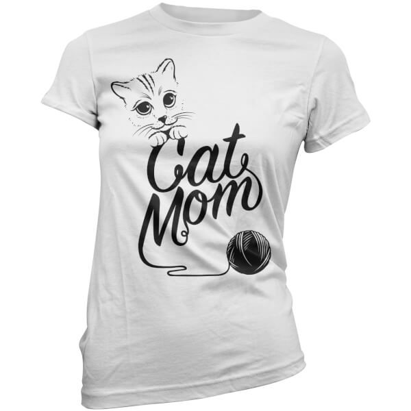 Cat Mom Women's T-Shirt - White