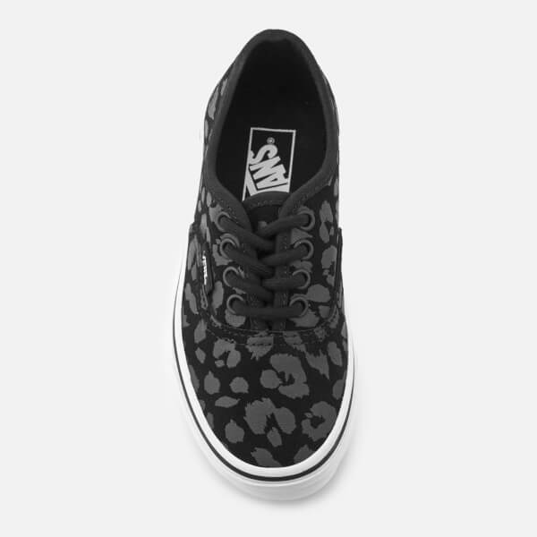 Vans Kids  Authentic Leopard Suede Trainers - Black  Image 3 fdeab7f40