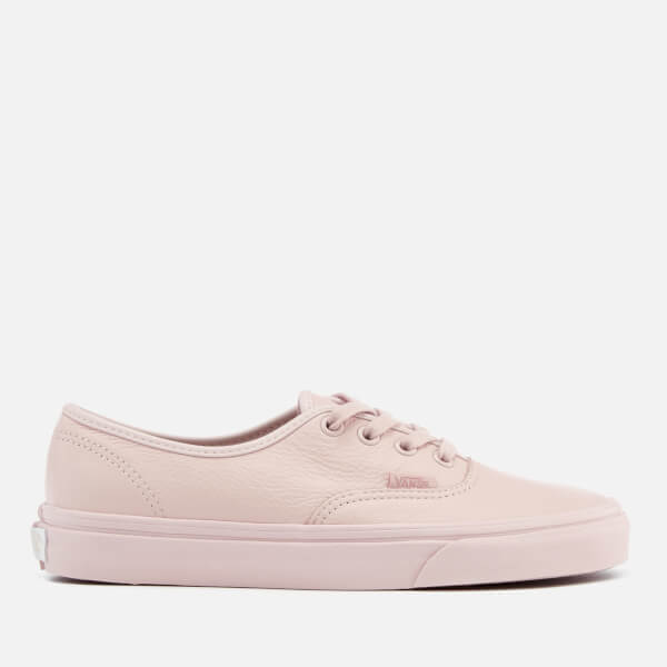 Vans Women's Authentic Leather Trainers - Mono/Sepia Rose