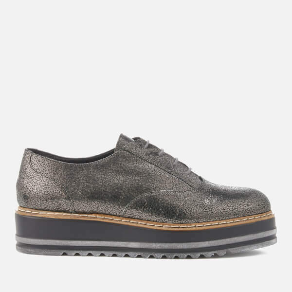 Dune Women's Follow Leather Oxford Shoes - Pewter