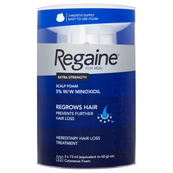 Regaine for Men Extra Strength Hair Regrowth Foam 3 x 60ml