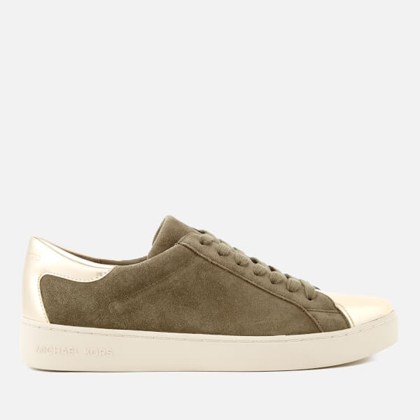 MICHAEL MICHAEL KORS Women's Frankie Low Top Trainers - Olive/Gold