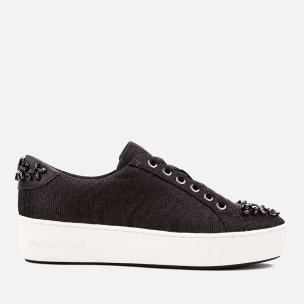 MICHAEL MICHAEL KORS Women's Poppy Lace Up Trainers - Black