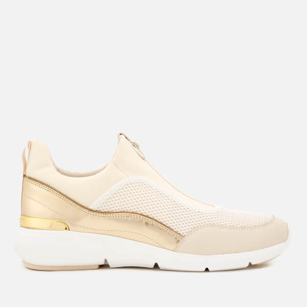 MICHAEL MICHAEL KORS Women's Ace Low Top Trainers - Optic White/Gold