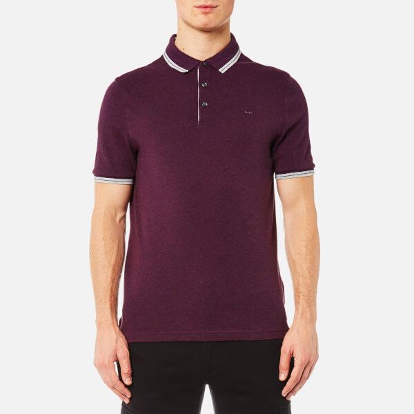 Michael Kors Men S Logo Collar Polo Shirt Raisin Melange