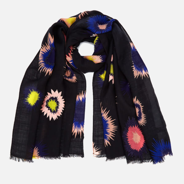 Paul Smith Women's Pow Embroidered Scarf - Black