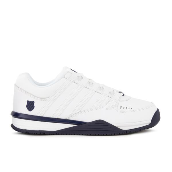 k swiss men 39 s baxter trainers white navy mens footwear. Black Bedroom Furniture Sets. Home Design Ideas
