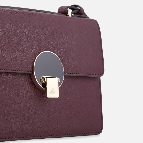 6d1e7dd89a4 Vivienne Westwood Women's Opio Saffiano Small Shoulder Bag - Bordeaux:  Image 4