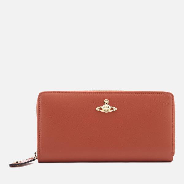 96743375c3f Vivienne Westwood Women's Opio Saffiano Zip Around Wallet - Orange: Image 1