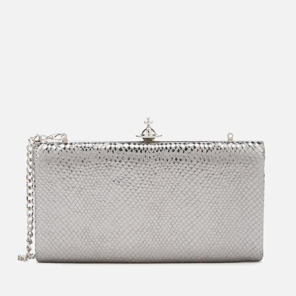 Vivienne Westwood Women's Verona Large Clutch Bag - Dark Silver