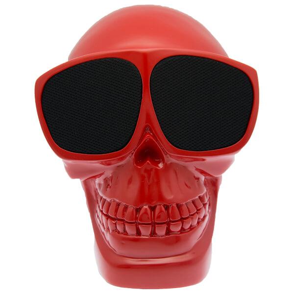 Cross Humanity Bluetooth Skull Speaker - Red