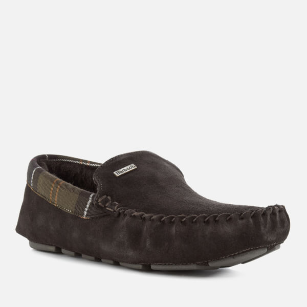 ef23a59deff5 Barbour Men s Monty Suede Moccasin Slippers - Brown  Image 2