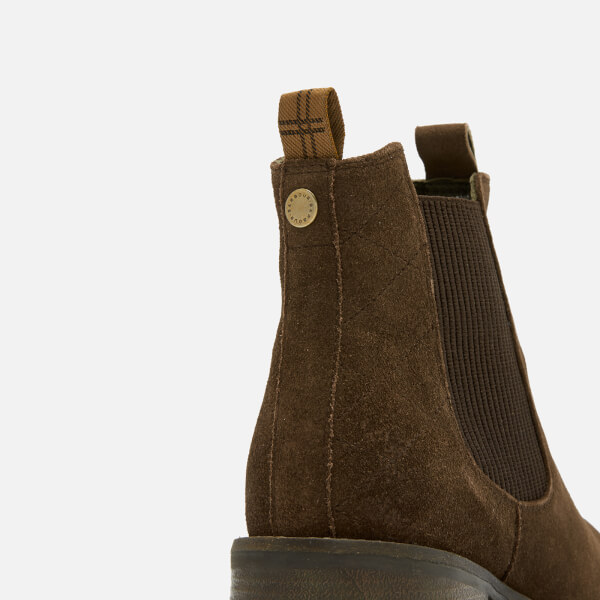 Barbour Women s Latimer Waxy Suede Chelsea Boots - Brown  Image 6 91cd43dd99