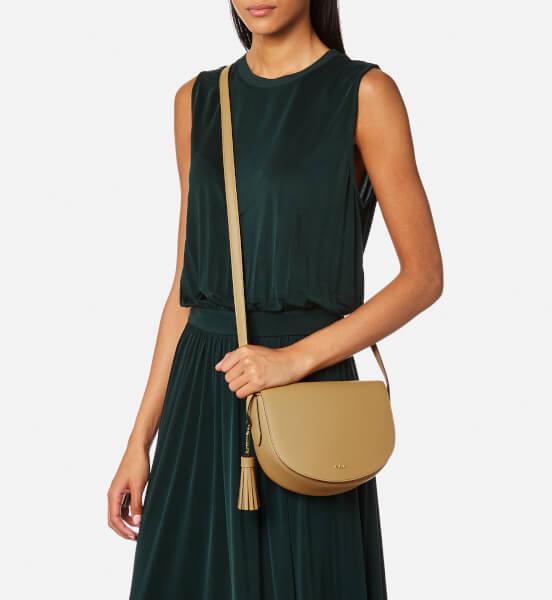 d2b25e1a09a0 Lauren Ralph Lauren Women s Dryden Caley Mini Cross Body Bag -  Palomino Caramel  Image