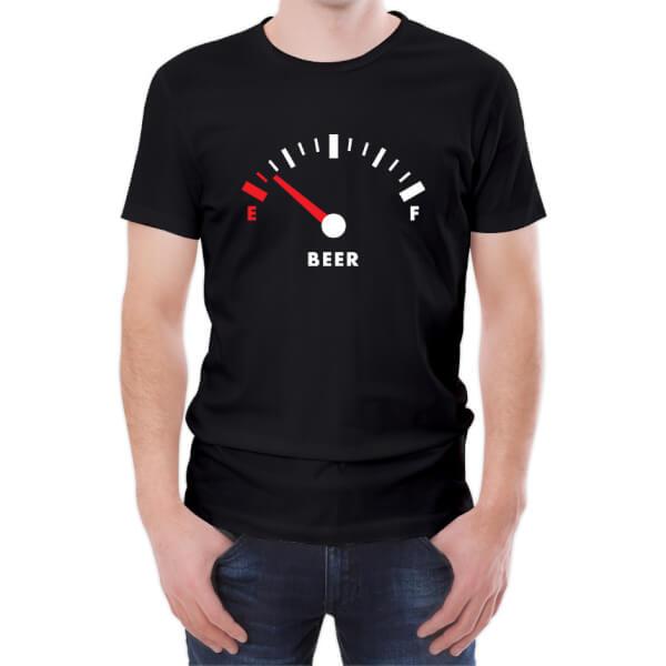 T-Shirt Homme Beer Fuel -Noir