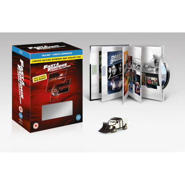 fast furious 1 7 includes bonus disc digibook and car. Black Bedroom Furniture Sets. Home Design Ideas