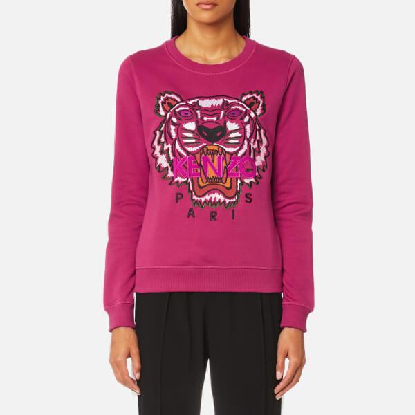 KENZO Women s Classic Tiger Sweatshirt - Deep Fuchsia - Free UK ... 1b6f13816fb
