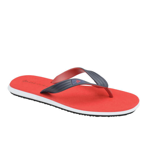 Dunlop Men's Toe Post Flip Flops - Red