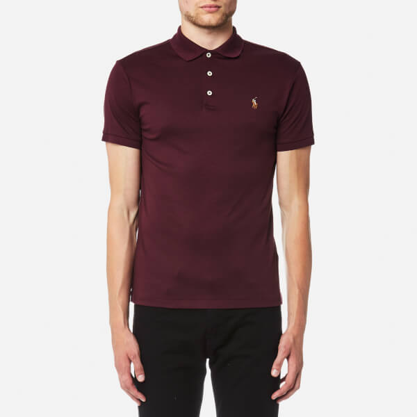 Polo Ralph Lauren Men's Pima Soft Touch Slim Fit Polo Shirt - Burgundy