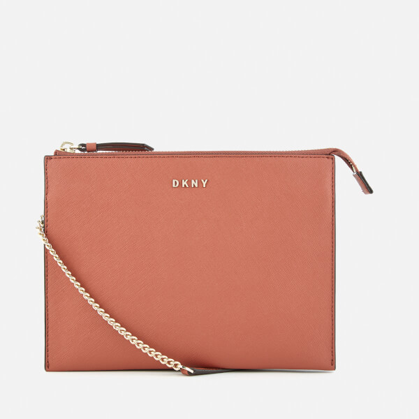 DKNY Women's Bryant Park Flat Top Zip Cross Body Bag - Terracotta