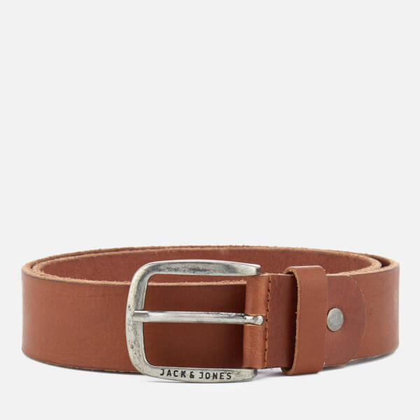 Jack & Jones Men's Paul Leather Belt - Mocha Bisque