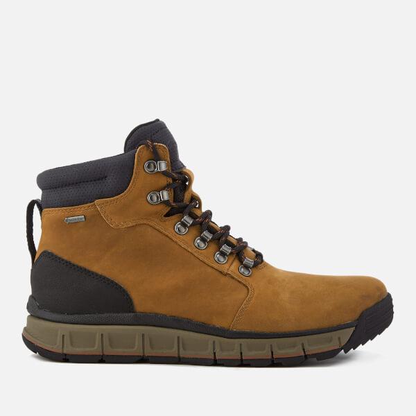 Clarks Men's Edlund Lo GTX Nubuck Lace Up Boots - Dark Tan
