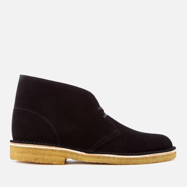 7e48616c23081 Clarks Originals Men s Desert Boots - Black Suede  Image 1