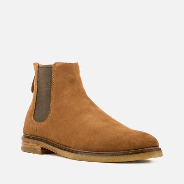 f0eee9183b7336 Clarks Men s Clarkdale Gobi Suede Chelsea Boots - Tobacco Mens ...
