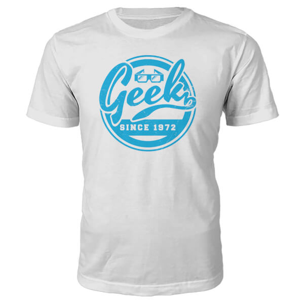 T-Shirt Geek Since 1970's -Blanc