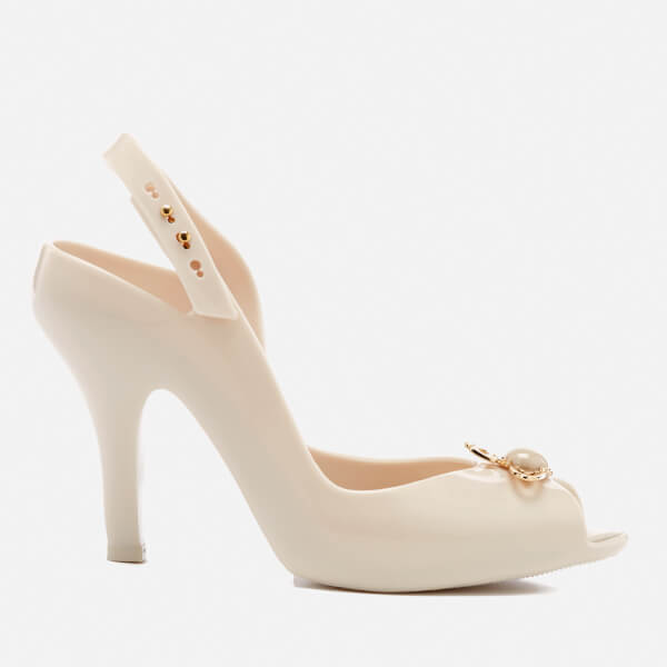 Vivienne Westwood for Melissa Women's Lady Dragon 18 Heeled Sandals - Ivory Pearl Orb