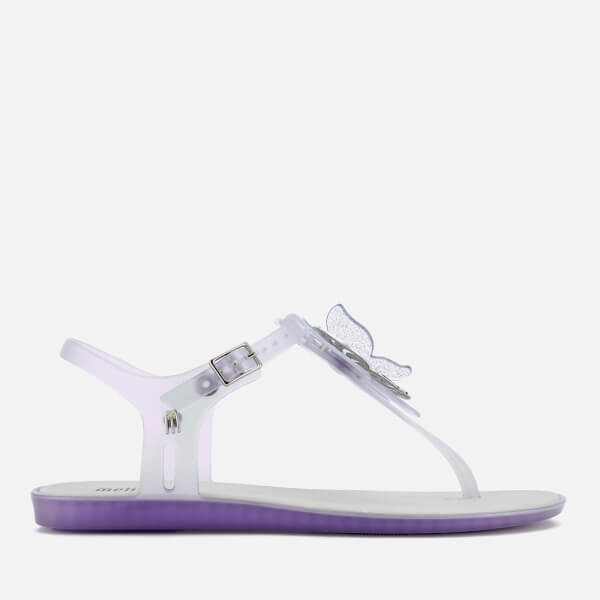 Melissa Women's Solar Butterfly T Bar Flat Sandals - Glass