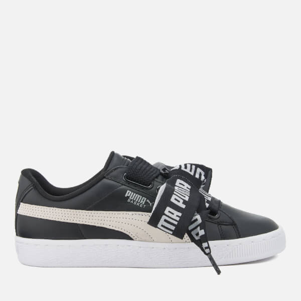 8b9cdab594f Puma Women s Basket Heart Trainers - Puma Black Puma White Womens ...