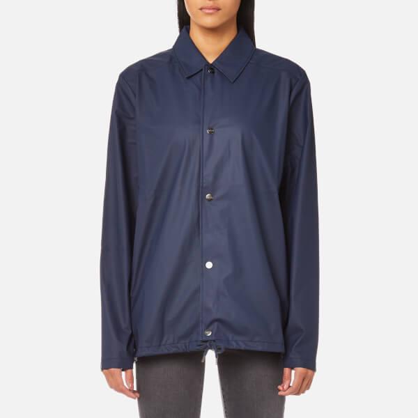 Rains Coach Jacket Blue Womens Clothing Thehut Com
