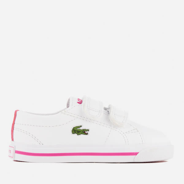 Lacoste Toddlers' Riberac 117 1 Trainers - White/Pink
