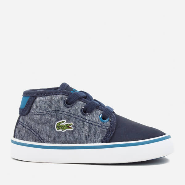Lacoste Toddlers' Ampthill 317 1 Mid Top Trainers - Navy
