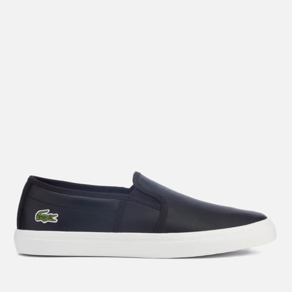 Lacoste Women s Gazon Bl 1 Leather Slip-On Trainers - Black Womens ... 2c592ea50