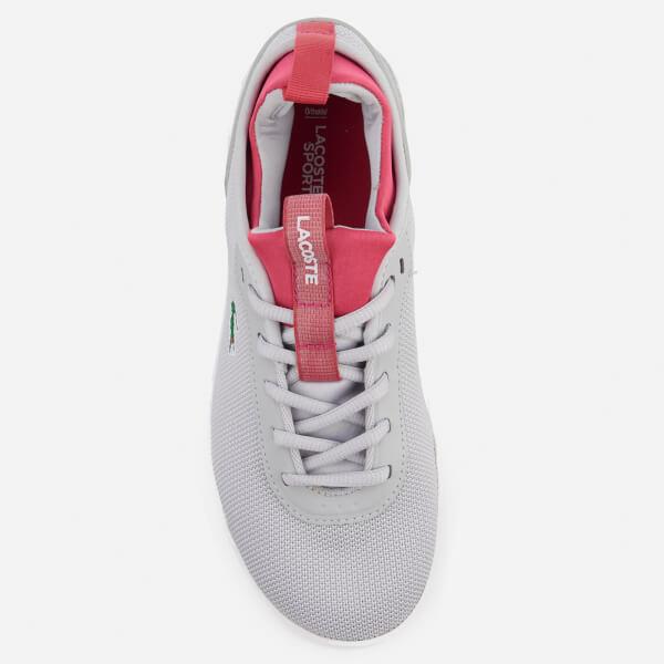05b75f9e1eb79 Lacoste Women s LT Spirit 2.0 317 1 Runner Trainers - Light Grey Pink  Image
