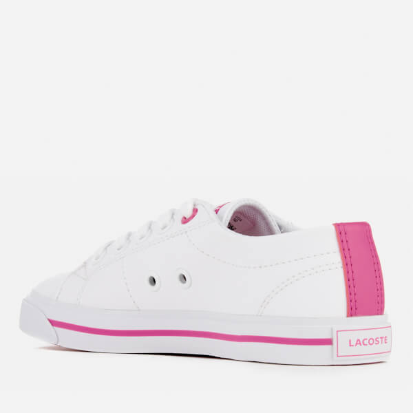 Lacoste Kids' Riberac 117 1 Trainers Weiß Weiß Weiß Pink Junior Clothing 263a39