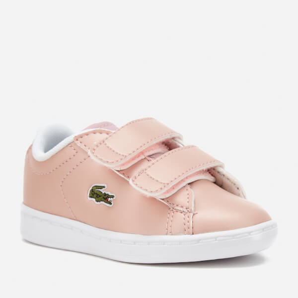 37d25c944a5ee1 Lacoste Toddlers  Carnaby Evo 317 6 Trainers - Light Pink  Image 2