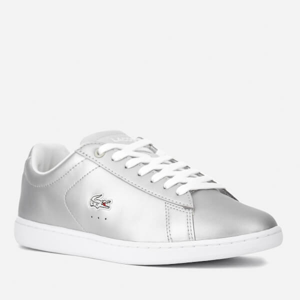 Lacoste Women's Carnaby Evo 117 3 Court Trainers - Light Grey: Image 11