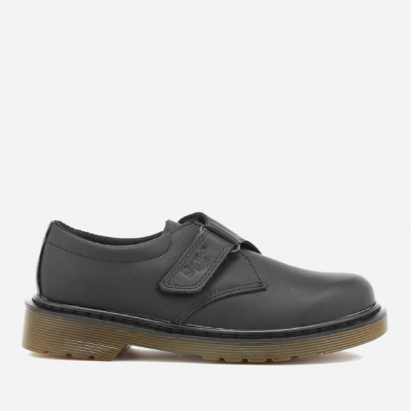 Dr. Martens Kids' Jerry J Soft T Leather Single Strap Shoes - Black