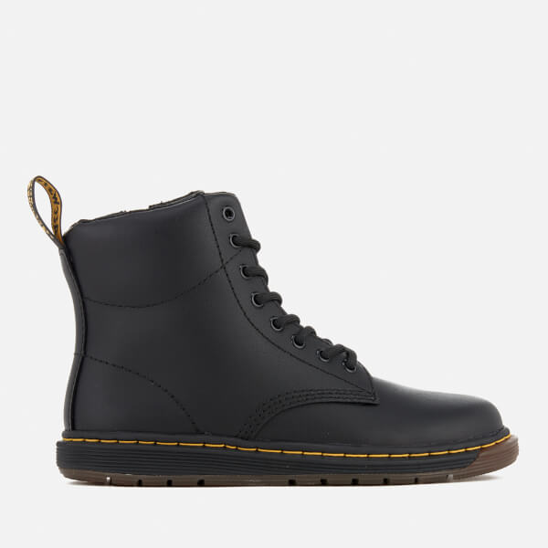 Dr. Martens Kids' Lite Malky Leather 8-Eye Lace Up Boots - Black
