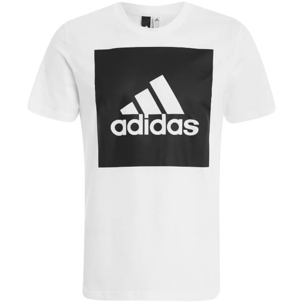 T-Shirt Homme Essential Logo Carré adidas -Blanc