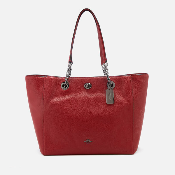 3df26f4941 Coach Women's Turnlock Chain Tote Bag - Cherry: Image 1
