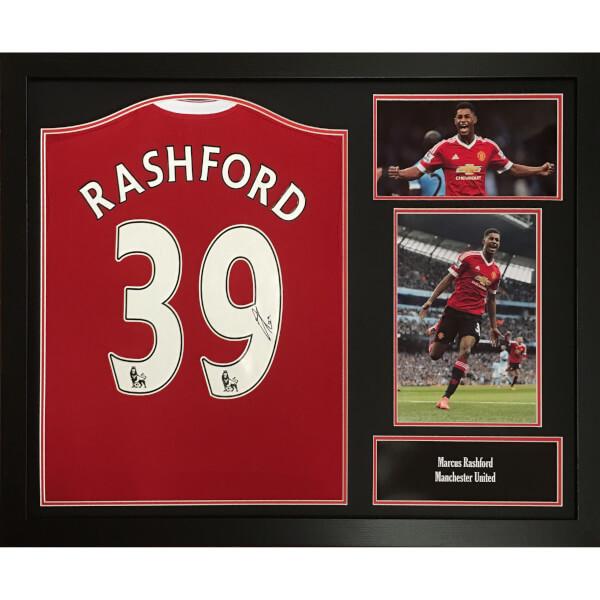 Marcus Rashford Signed and Framed Manchester United Shirt