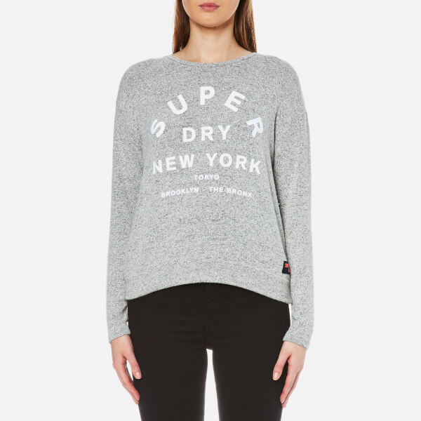 Superdry Women's Parsons Slouch Top - 90's Speckled Marl