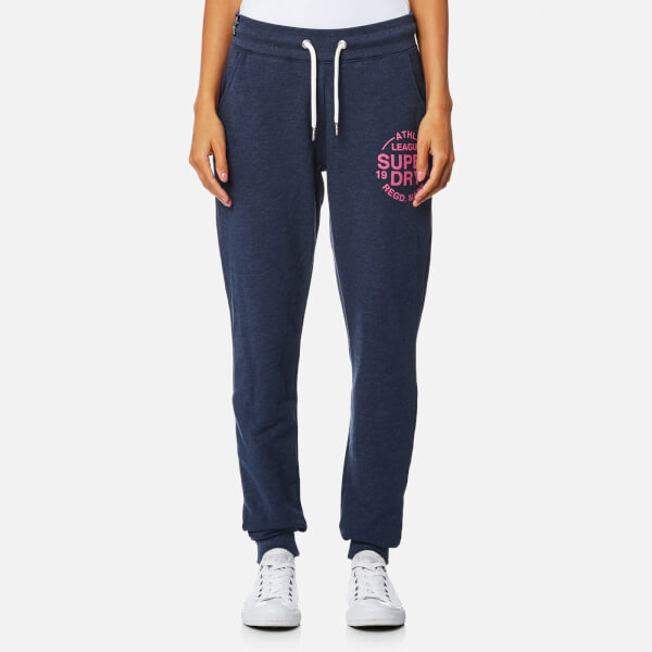 Superdry Women's Athletic League Cuff Joggers - 90's Denim Marl