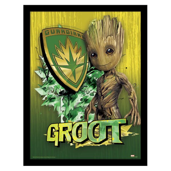 Guardians of the Galaxy Vol. 2 (Groot Shield) Framed 30 x 40cm Print