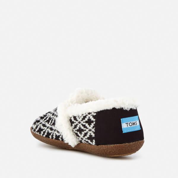 33d20397b2a TOMS Women s Full Slippers - Black White Fair Isle  Image 4